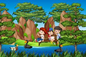 Enfants dans la nature
