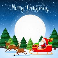 Feliz navidad santa trineo