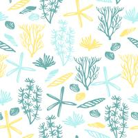 Trendy sea seamless pattern with hand texture.
