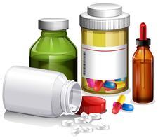 Eine Reihe von Medizin