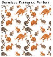 Seamless kangaroo pattern scene