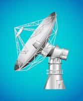 Base satelital con plato