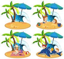 A Set of  Tropical Island