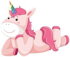 A pink unicorn character vector