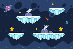 Spel sjabloon voor ijs en ruimte