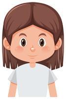 En brunett tjej karaktär