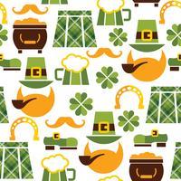 St Patrick's Day sömlöst mönster
