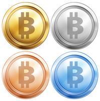 Vier ontwerpen van bitcoins