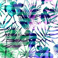 Nahtloses exotisches Muster mit tropischer Palme in der hellen Farbe.