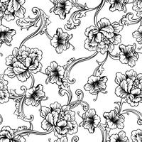 Fabric seamless pattern with baroque ornament.