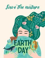 Earth Day. Vector design.