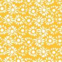 Abstrakt blommigt sömlöst mönster med kamomill. Trendiga handdragen texturer