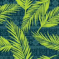Seamless exotic pattern with palm leaves.