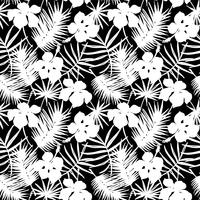 Seamless exotic pattern with tropical leaves. vector