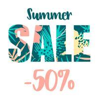 Summer sale design. Vector template