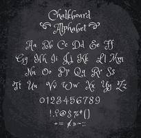 Vector illustration of chalked alphabet.