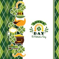 Saint Patricks Day baskground.  vector