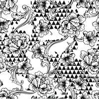 Nahtloses Muster des vielseitigen Gewebes. Geometrischer Hintergrund mit barocker Verzierung