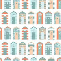 Summer beach seamless pattern. vector