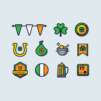 St.Patrick's Day Clipart Set Vector