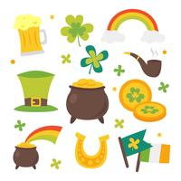 St Patricks Dag Clipart Set