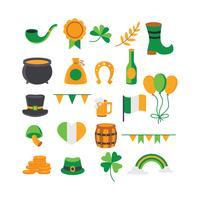 Ensemble d'éléments sur le thème de la Saint Patrick