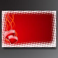 Valentine's day illustration with glossy red hearts.