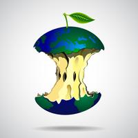 World illustration in apple style