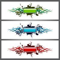 glänzender Knopf auf Fleckstücken von drei Variationen