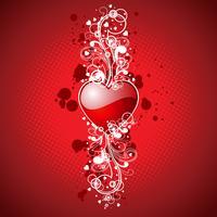 De dagillustratie van de valentijnskaart met hart