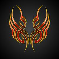 vector tribal tattoo motive on dark background