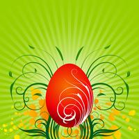 Vector Easter illustration with painted egg