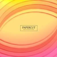 Papercut colorful wave colorful design illustration