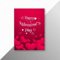 Valentinsgrußtagesbunte Herzen kardieren kreatives Schablonendesign