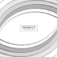 Beautiful Papercut gray wave background