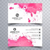 Beautiful watercolor business card set template