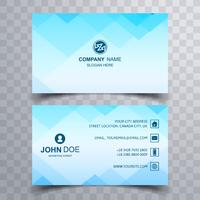Abstract business card set template vector
