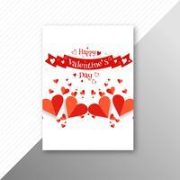 Schöner Herzvalentinstagkarten-Broschürenvektor