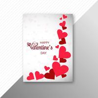 Schöner Valentinstagkartenschablonen-Designvektor