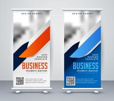 moderne zaken oprollen banner ontwerpsjabloon