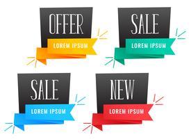 conjunto de diseños de banner de venta con estilo