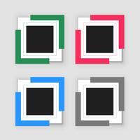 fyra tomma infografiska ramuppsättningar