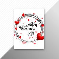 Valentines day colorful hearts card creative template design