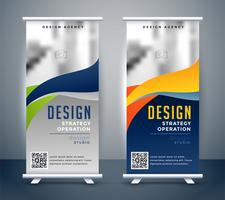 abstract roll up banner standee design