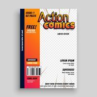 action modèle de bande dessinée