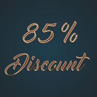 Realistic leather percentage set, vector illustration