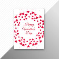 Beautiful valentine's day card  template design vector