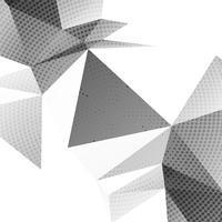Abstraktes graues Polygon punktierter Hintergrundvektor