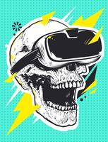 Skull i Virtual Reality Glasses
