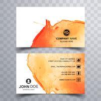 Vacker vattenfärg visitkort uppsättning mall